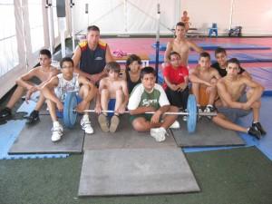 equipo concentrado en El Ejido- 2009